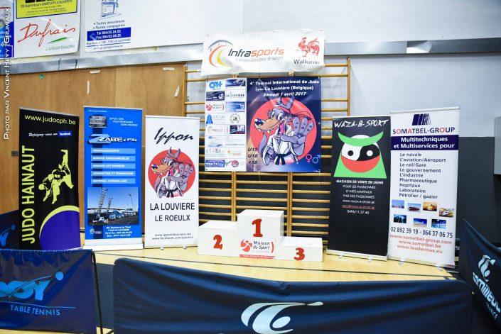 4E Tournoi Inter. Judo Ippon Lalouvière  ( PODIUMS )